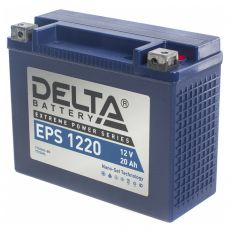 DELTA BATTERY EPS 1220 NanoGel YTX20HL-BS 24А/ч-12Vст EN350 болт обратная 205x87x154